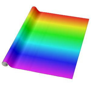 Multicolored Rainbow Ombre Wrapping Paper