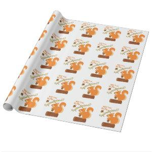 My Squirrel Friend Wrapping Paper