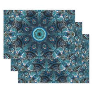 Mysterious space mandala wrapping paper sheets