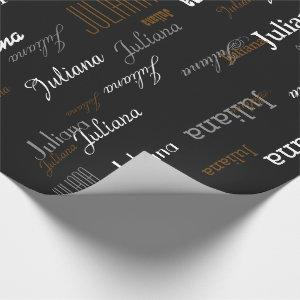 named . your own name . custom wrapping paper