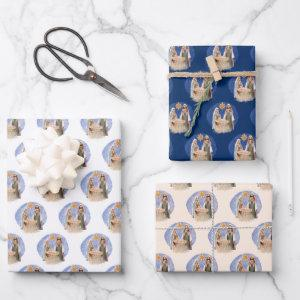 Nativity Scene Mary Joseph Jesus Pattern Christmas Wrapping Paper Sheets