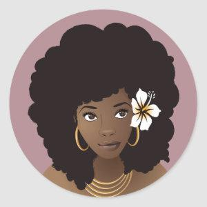 Natural Hair Beauty, Flower in her Hair Stickers
