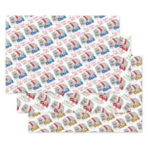 Naughty Grumpy Cranky Christmas Cat Wrapping Paper Sheets