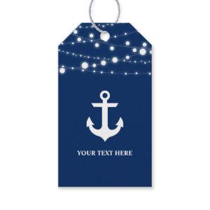 Nautical Anchor Navy Blue Personalized Gift Tags