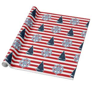 Nautical design wrapping paper