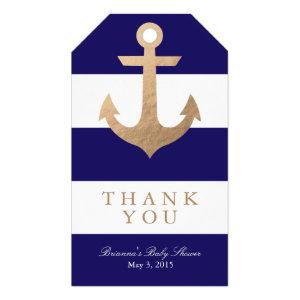 Nautical Navy Baby Shower Gift Tags