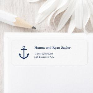 Nautical Navy Blue Anchor Address Labels