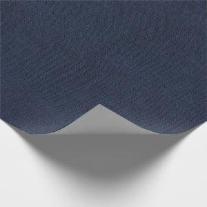 Navy Blue Burlap Texture Wrapping Paper