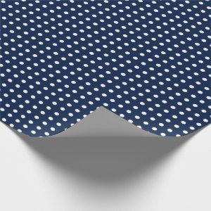 Navy Blue Wrapping Paper with Small Polka Dots