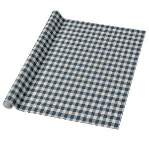 Navy Buffalo Plaid Wrapping Paper
