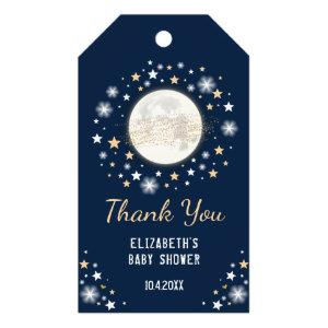 Navy Gold Moon Baby Shower Favors Twinkle Star Gift Tags