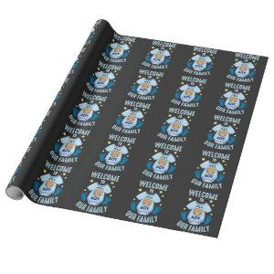 New Baby Gender Reveal It's a Boy Wrapping Paper