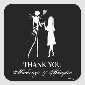 Nightmare Before Christmas - Wedding Thank You Square Sticker