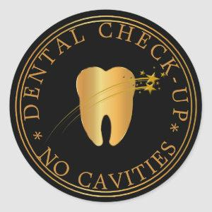 No Cavities Dental Check-Up Classic Round Sticker