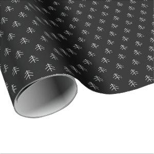 Noir | Modern Trees Pattern Wrapping Paper