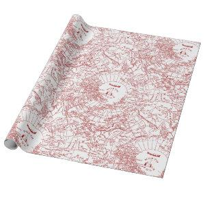 North Pole Santa Map Wrapping Paper