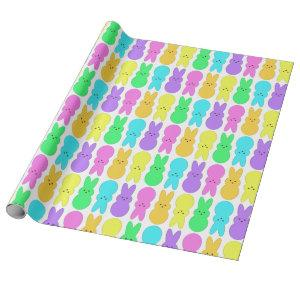 Nothing But Peeps Alternating Bunny Marshmallow Wrapping Paper