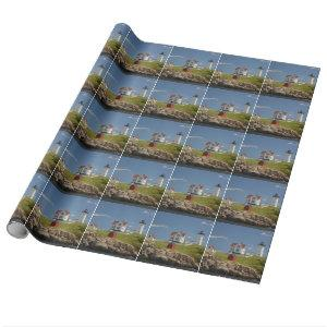 Nubble Lighthouse Wrapping Paper