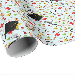 Nurse Graduation Gift Wrapping Paper