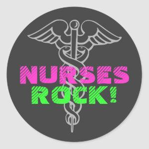Nurses Rock! stickers