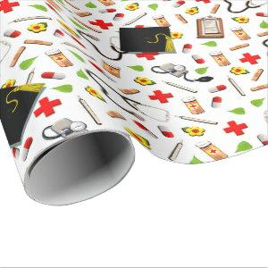 Nursing School Graduation Wrapping Paper