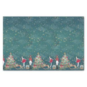 Nutcracker Ballet Dancer Green Christmas Tissue Paper