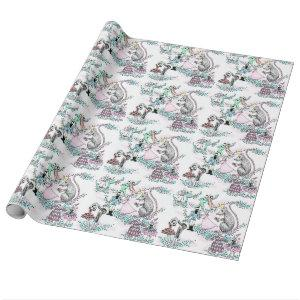 Nutcracker ballet gift wrap wrapping paper