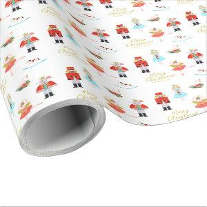 Nutcracker Ballet Personalized Christmas Wrapping Paper