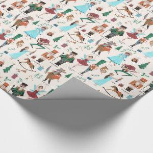 Nutcracker | Christmas Holiday | Wrapping Paper