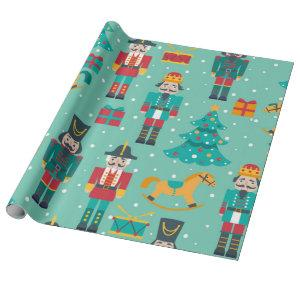 Nutcracker Christmas Pattern Wrapping Paper