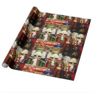 Nutcracker Christmas Soldiers Wrapping Paper