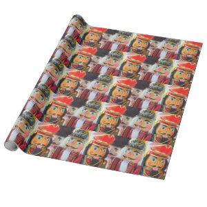 Nutcracker figures wrapping paper