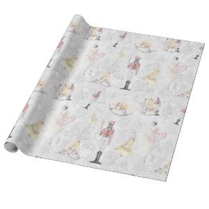 Nutcracker Suite Christmas Ballerina Soldier Wrapping Paper