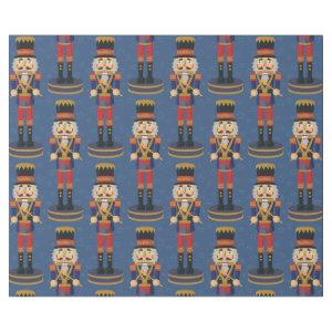 Nutcracker Toy Soldier Drummer Blue Pattern Wrapping Paper