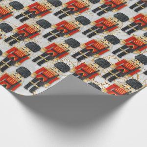 Nutcracker Toy Soldier Xmas Christmas Kids Wrapping Paper