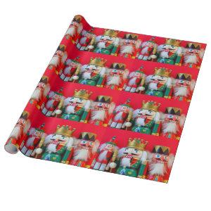 Nutcracker trio wrapping paper