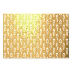 Nutcrackers on Parade Christmas Foil Wrapping Paper Sheets