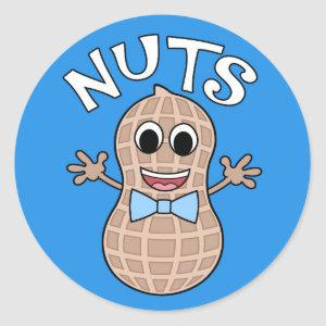 Nuts or No Nuts gender reveal stickers