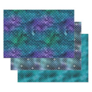 Ocean Mermaid Wrapping Paper Sheets