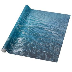 Ocean Water Background Wrapping Paper