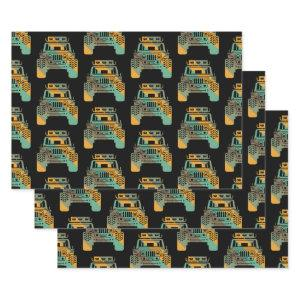 Off Road Retro Style 4x4 Vehicle Car Lover Offroad Wrapping Paper Sheets