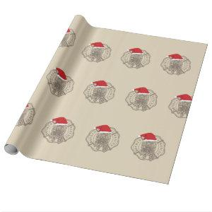Official Logo Santa Wrapping Paper