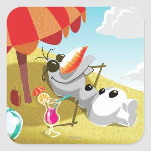 Olaf | Chillin' in the Sunshine Square Sticker