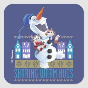Olaf | Sharing Warm Hugs Square Sticker