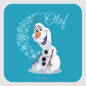 Olaf | Wave of Snowflakes Square Sticker