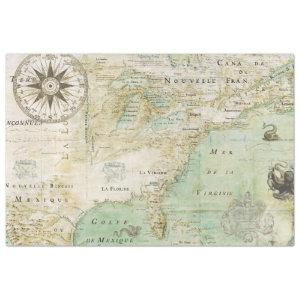 OLD 1600s AMERICA MAP Tissue Paper