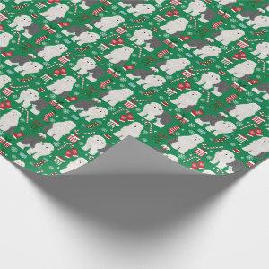 Old English Sheepdog Christmas Holiday Wrapping Paper