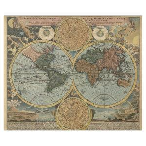 Old Map of Ancient World Vintage Cartography