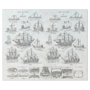 OLD SHIPS VINTAGE NAUTICAL DECOUPAGE WRAPPING PAPER