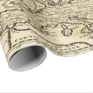 Old Vintage map party wrapping paper